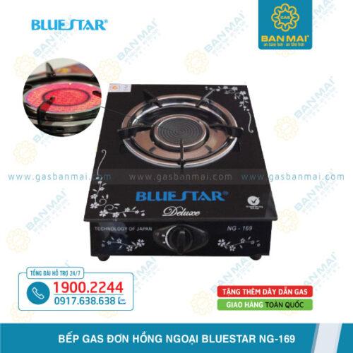 Bếp ga đơn hồng ngoại Bluestar NG-169 mặt kính chính hãng