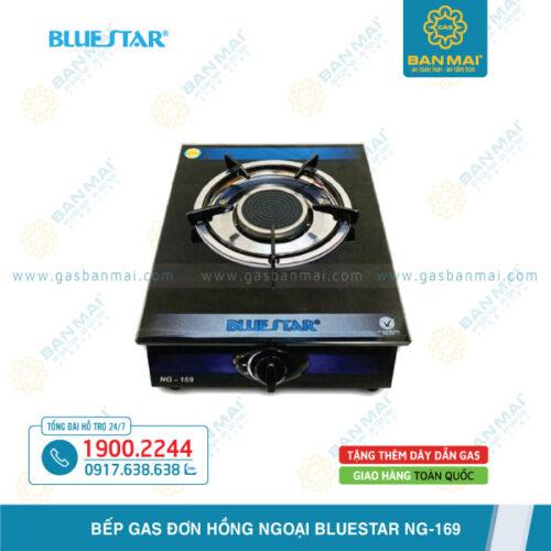 Bếp gas đơn hồng ngoại Bluestar NG-169C mặt kính chính hãng