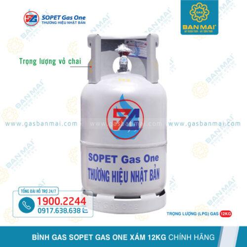 Bình Gas SOPET xám 12kg chính hãng