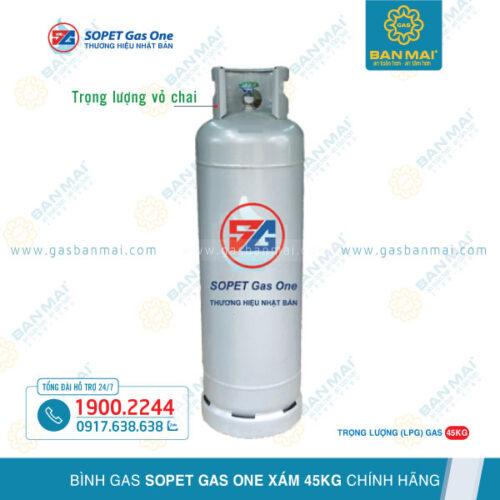 Bình gas SOPET Gas One xám 45kg