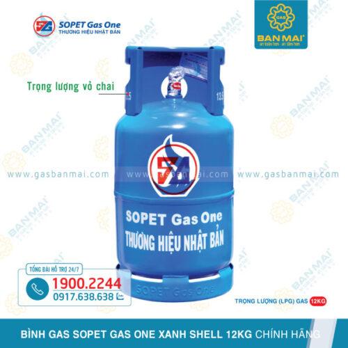 Bình Gas SOPET Xanh Shell 12kg chính hãng