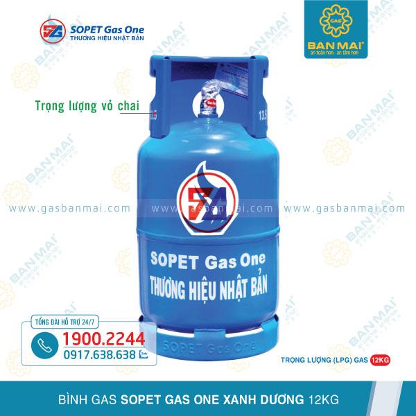 Bình gas SOPET Gas One xanh dương 12kg