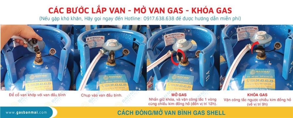 Cách lắp đặt và sử dụng van bình Shell Gas chuẩn nhất