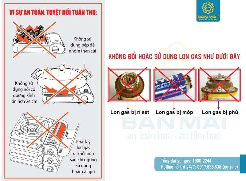 Hướng dẫn sử dụng bình gas mini an toàn