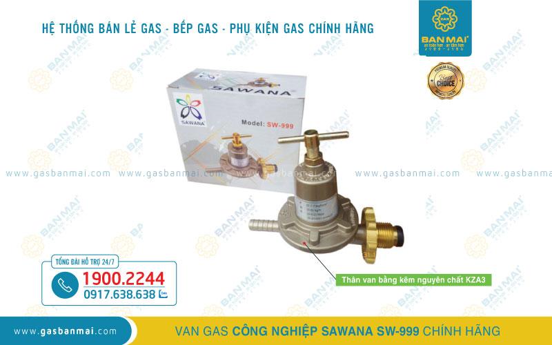 Van gas công nghiệp Sawana SW-999 chính hãng
