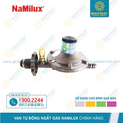 Van ngắt gas tự động NaMilux dùng cho bình gas xám