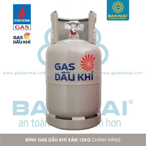 Bình gas Dầu Khí xám 12kg chính hãng