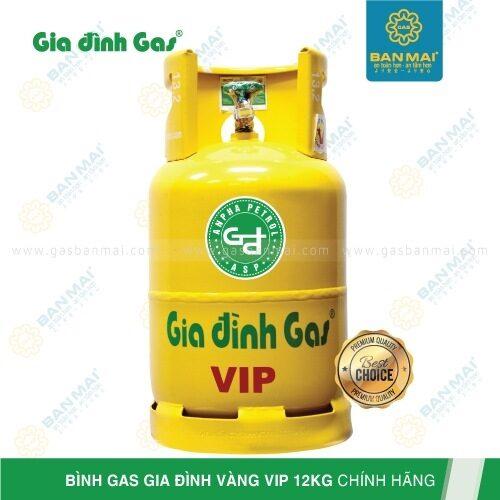 Bình gas Gia đình Vàng VIP 12kg chính hãng