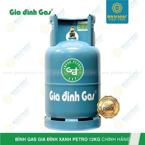 Bình gas Gia đình xanh Petro 12kg chính hãng