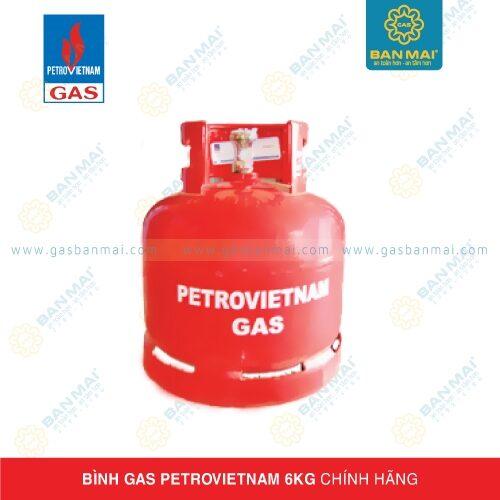 Bình gas Petrovietnam 6kg chính hãng