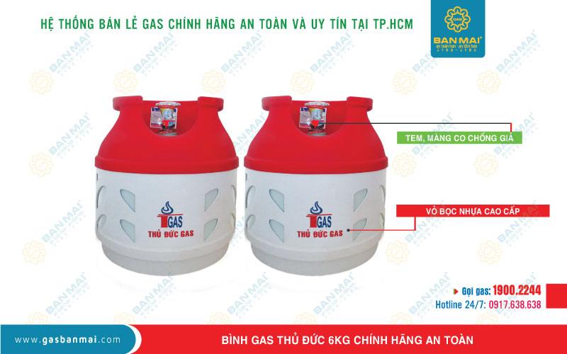 Bình gas 6kg chính hãng an toàn