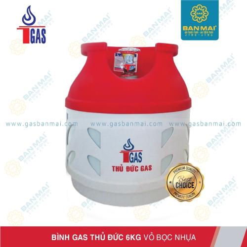 Bình gas Thủ Đức 6kg chính hãng