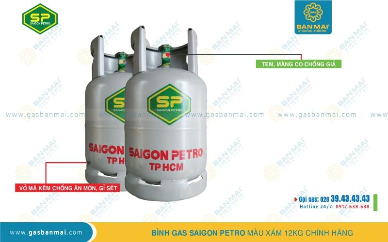 giá gas Saigon Petro - giá bình gas xám 12kg Saigon Petro