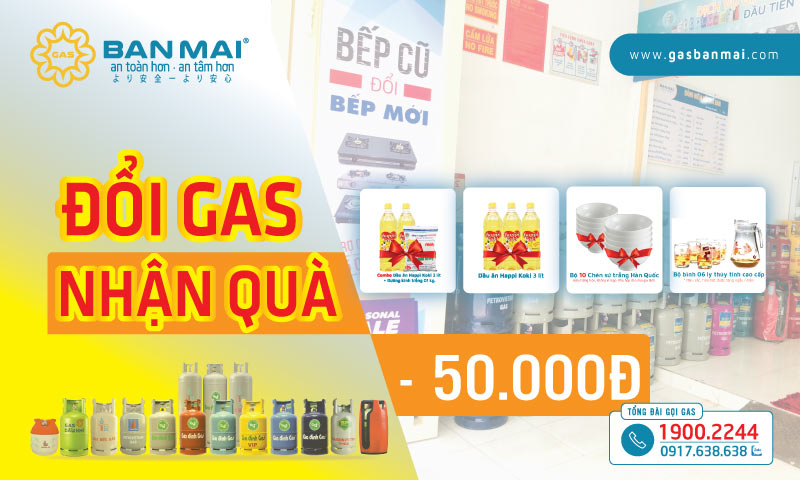 Khuyến mãi đổi gas chính hãng