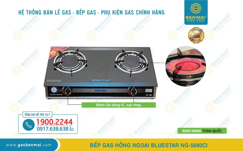 Bếp ga hồng ngoại Bluestar NG-5680CI chính hãng
