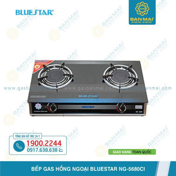 Bếp gas đôi hồng ngoại Bluestar NG-5680CI giá rẻ