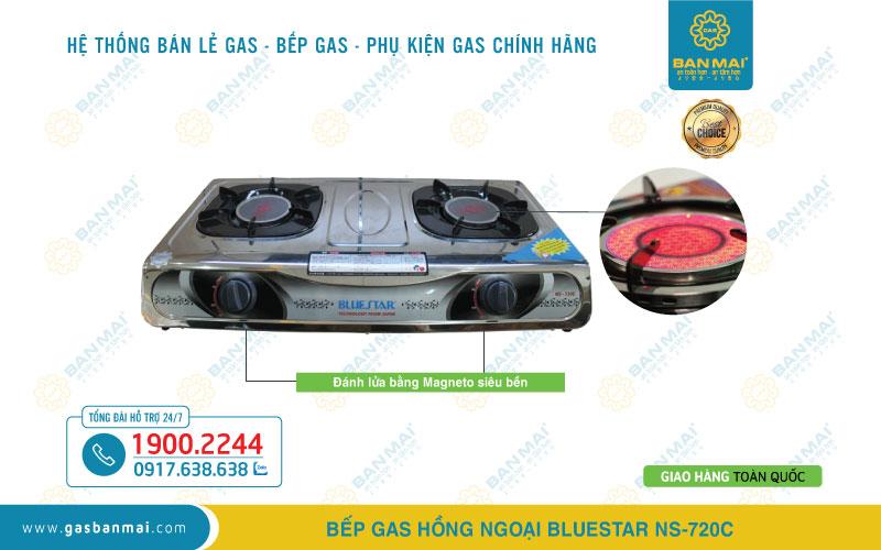 bếp ga hồng ngoại Bluestar NS-720C