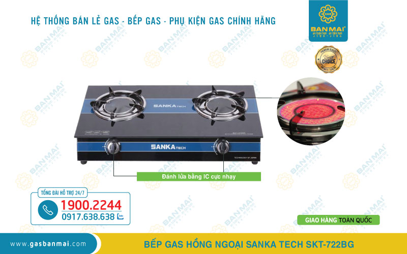 Bếp gas Sanka Tech SKT-722BG