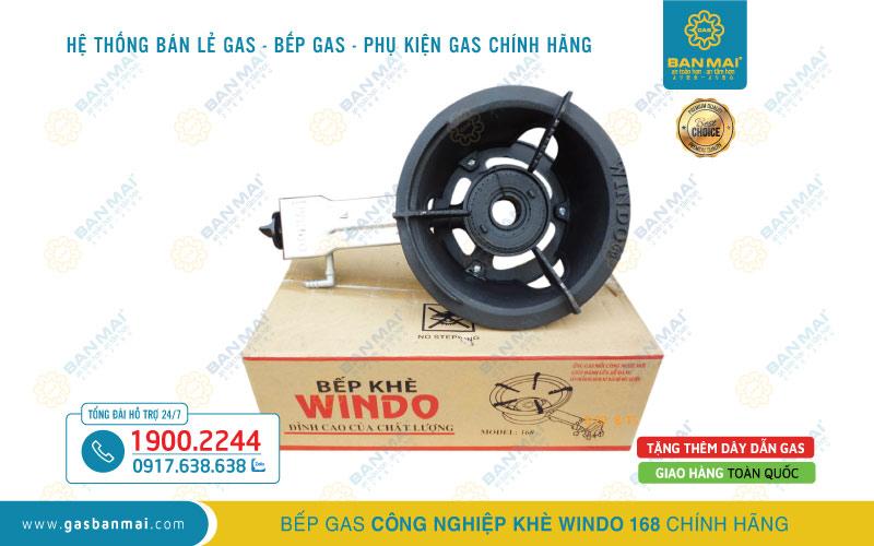 Bếp ga công nghiệp khè Windo 168 chính hãng