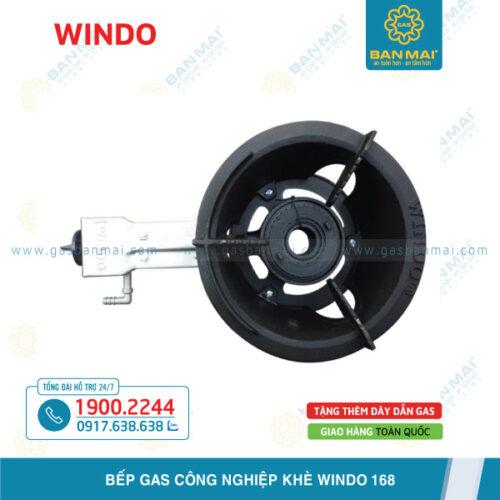 Bếp gas công nghiệp khè Windo 168 chính hãng