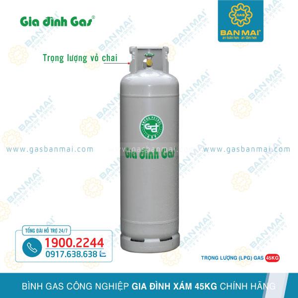 bình gas Gia Đình xám 45kg