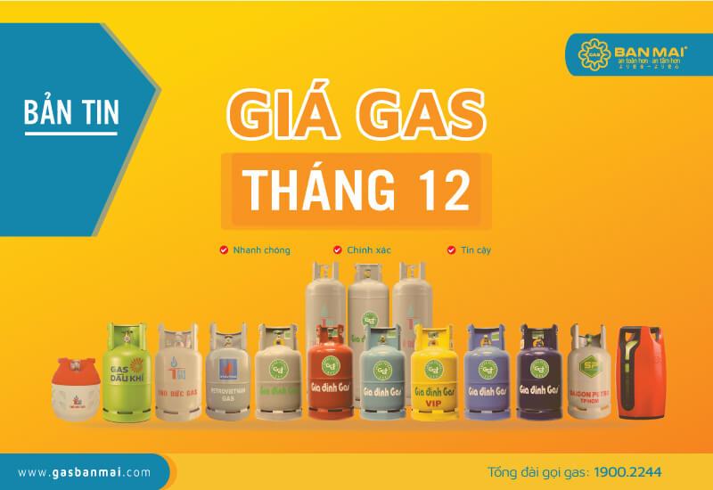 giá gas tháng 12 2020