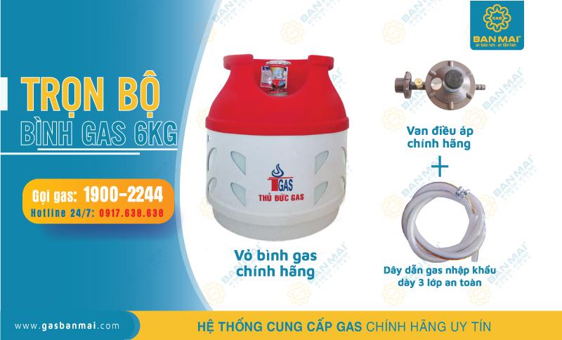 bộ bình gas 6kg