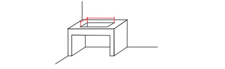 cách cắt đá bếp âm