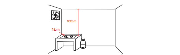Lắp đặt bếp ga âm ở vị trí kiên cố