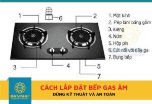 cách lắp đặt bếp ga âm