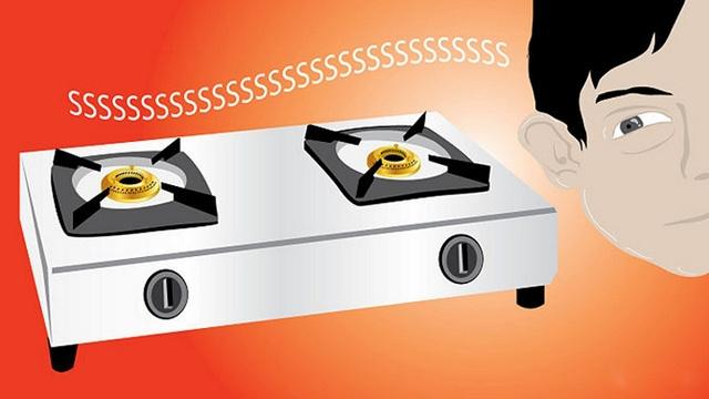 tắt bếp ga không còn tiếng rít (reo)