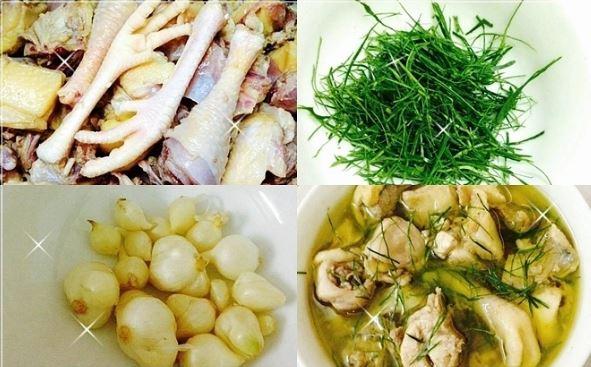Những nguyên liệu cho món gà nấu xáo nghệ đúng theo kiểu miền Trung