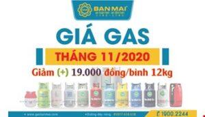 Giá gas tháng 11/2020 tăng 19.000 đồng/bình 12kg