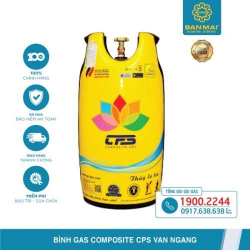 Bình gas Composite CPS 12kg van ngang