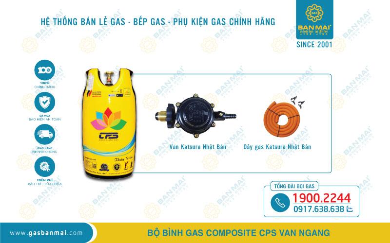 Báo giá bình gas Composite CPS trọn bộ