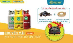 Khuyến mãi mua bộ bình gas tặng bếp gas đơn