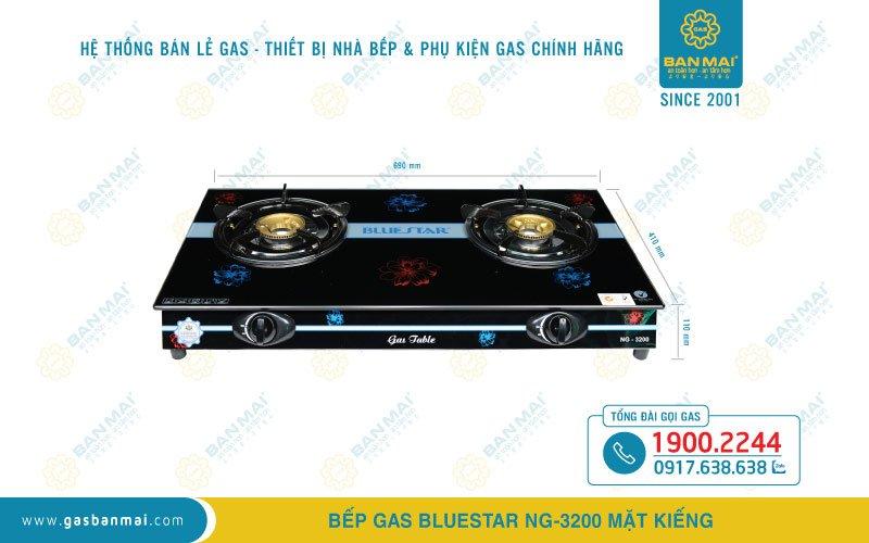 Kích thước bếp ga dương Bluestar NG-3200