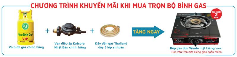 Khuyến mãi mua bình gas tặng bếp ga đơn dụng bình ga lớn