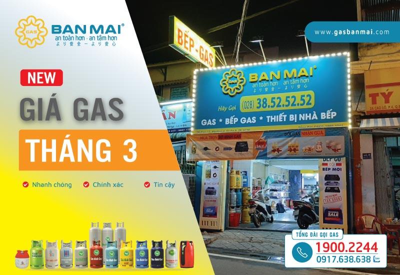 giá gas tháng 3 2021