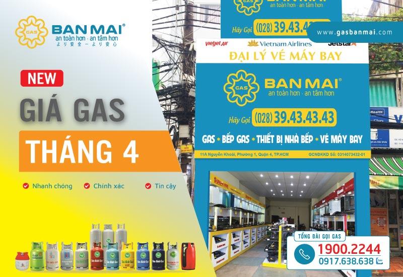 Giá gas tháng 4 năm 2021