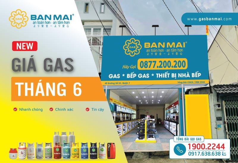 Giá gas tháng 6 năm 2021