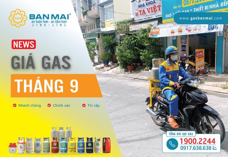 Cập nhật Giá gas tháng 9 2021