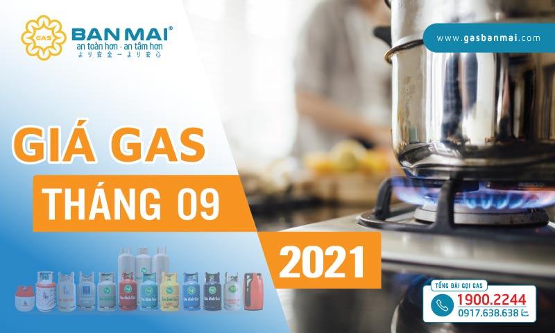Giá gas tháng 9 năm 2021